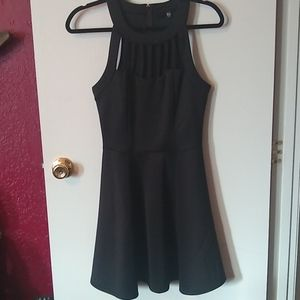 Black flare bottom dress